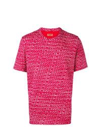 T-shirt à col rond imprimé fuchsia Missoni