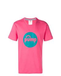 T-shirt à col rond imprimé fuchsia Reebok