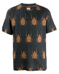 T-shirt à col rond imprimé gris foncé Paul Smith