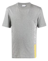 T-shirt à col rond imprimé gris Calvin Klein