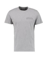 T-shirt à col rond imprimé gris Edwin