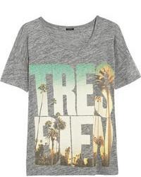 T-shirt à col rond imprimé gris J.Crew