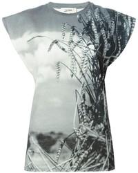 T-shirt à col rond imprimé gris Jean Paul Gaultier