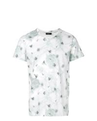 T-shirt à col rond imprimé gris Jil Sander