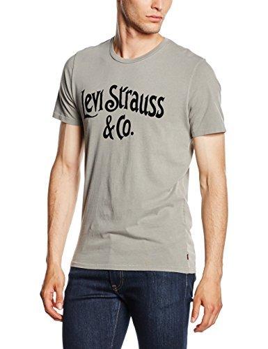 8e3246ed4631 ... T-shirt à col rond imprimé gris Levi s ...
