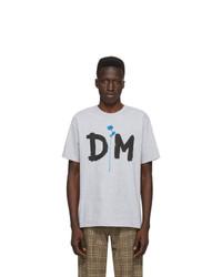 T-shirt à col rond imprimé gris Noah NYC
