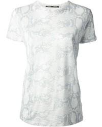 T-shirt à col rond imprimé gris Proenza Schouler