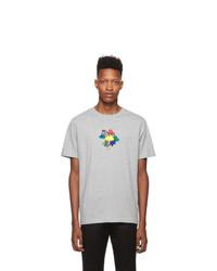 T-shirt à col rond imprimé gris Ps By Paul Smith