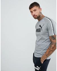 T-shirt à col rond imprimé gris Puma