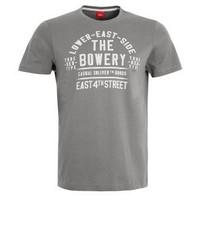 T-shirt à col rond imprimé gris s.Oliver