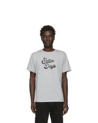 T-shirt à col rond imprimé gris Saturdays Nyc