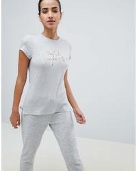 T-shirt à col rond imprimé gris Ted Baker