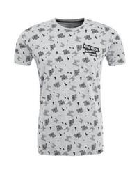 T-shirt à col rond imprimé gris Tiffosi