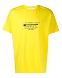 T-shirt à col rond imprimé jaune Givenchy