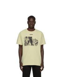 T-shirt à col rond imprimé jaune Off-White