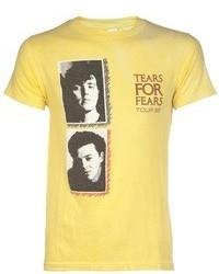 T-shirt à col rond imprimé jaune