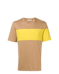 T-shirt à col rond imprimé marron clair Helmut Lang