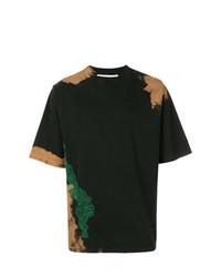 T-shirt à col rond imprimé marron foncé Damir Doma