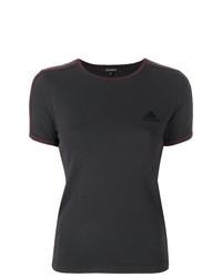 T-shirt à col rond imprimé marron foncé Yeezy