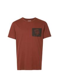 T-shirt à col rond imprimé marron Kent & Curwen