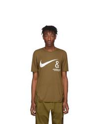 T-shirt à col rond imprimé marron Nike