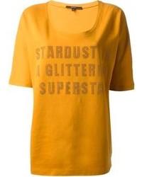 T-shirt à col rond imprimé moutarde Gucci