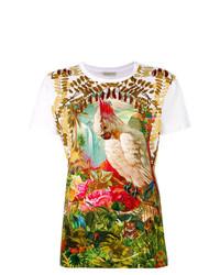 T-shirt à col rond imprimé multicolore Etro
