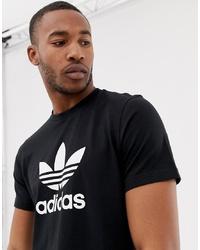 T-shirt à col rond imprimé noir et blanc adidas Originals
