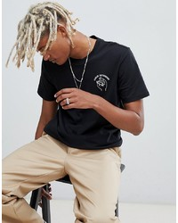 T-shirt à col rond imprimé noir et blanc Adidas Skateboarding