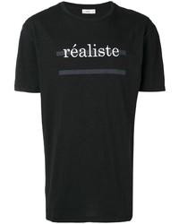 T-shirt à col rond imprimé noir et blanc Closed