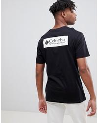 T-shirt à col rond imprimé noir et blanc Columbia