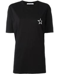 T-shirt à col rond imprimé noir et blanc Givenchy