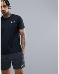 T-shirt à col rond imprimé noir et blanc Nike Running