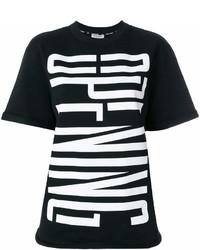 T-shirt à col rond imprimé noir et blanc Opening Ceremony