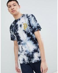 T-shirt à col rond imprimé noir et blanc Primitive
