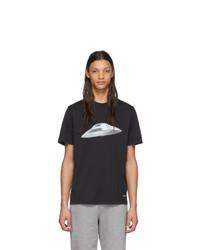 T-shirt à col rond imprimé noir et blanc Ps By Paul Smith