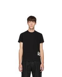 T-shirt à col rond imprimé noir et blanc Rick Owens