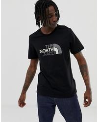 T-shirt à col rond imprimé noir et blanc The North Face