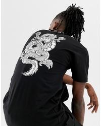 T-shirt à col rond imprimé noir et blanc Vans