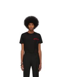 T-shirt à col rond imprimé noir Alexander McQueen