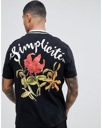 T-shirt à col rond imprimé noir ASOS DESIGN