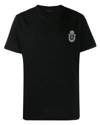 T-shirt à col rond imprimé noir Billionaire