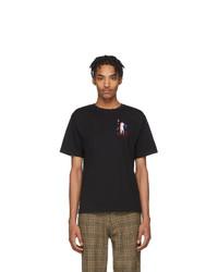 T-shirt à col rond imprimé noir Carne Bollente