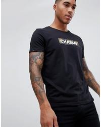 T-shirt à col rond imprimé noir Chasin'