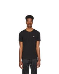 T-shirt à col rond imprimé noir Dolce and Gabbana