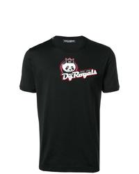T-shirt à col rond imprimé noir Dolce & Gabbana