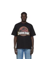 T-shirt à col rond imprimé noir Gcds