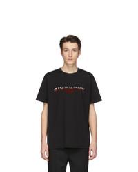 T-shirt à col rond imprimé noir Givenchy