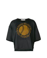 T-shirt à col rond imprimé noir Golden Goose Deluxe Brand