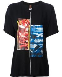 T-shirt à col rond imprimé noir Jean Paul Gaultier